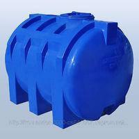 Накопительный бак для воды и других жидкостей ELBI CHO 1500 литров, круглый горизонтальный