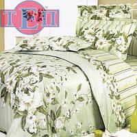 Комплект постельного белья теп бязь из хлопка семейный 735 Жасмин