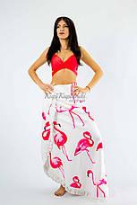 Покрывало пляжное круглое белое с фламинго 150*150, фото 3
