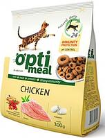 Сухой корм для кошек С курицей Optimeal (Оптимил) Защита иммунитета 0,3 кг