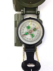 Армейский компас Lensatic США (пластик, олива), фото 3