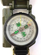 Армейский компас Lensatic США (пластик, олива), фото 2