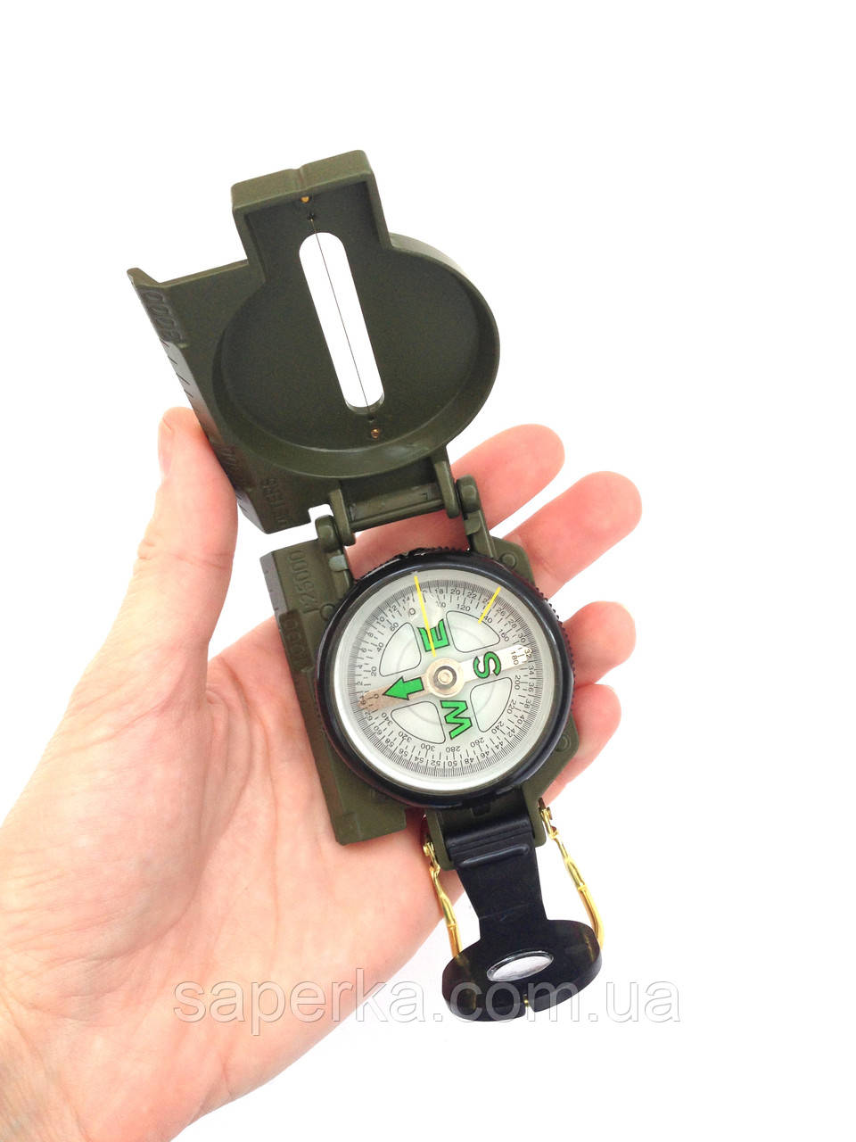 Армейский компас Lensatic США (пластик, олива)