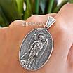 Святой Архистратиг Михаил иконка серебро - Серебряный кулон Архангел Михаил, фото 5
