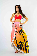 Покрывало пляжное круглое  пальмы закат  150*150, фото 3