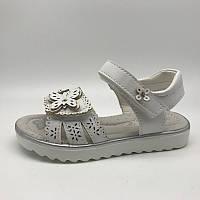 Легкие белые босоножки сандалики для девочки  26 - 31, ТОМ. М 3697