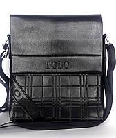 """Мужская сумка-планшетка """"Tolo Quadrate"""" черная"""