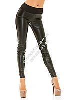 Модные женские лосины комбинированые кожа + ткань  + БЕСПЛАТНАЯ ДОСТАВКА, фото 1