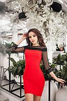 Платье с кружевом 1105 /ДМо 42-44 44-46