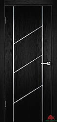 Межкомнатные двери Белоруссии Флэш 12 черный ясень ПГ