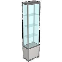 Витрина профильная, задняя стенка стекло