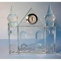 Дворец хрустальный с часами (12,5*12*2) , Изделия из хрусталя