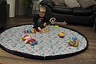 """Плеймат """"Закалдованый лес"""" 160*160 см (коврик-трансформер для игр, мешок для игрушек)"""