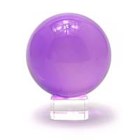 Шар хрустальный на подставке фиолетовый (8 см)(10,5х8х8 см) , Изделия из хрусталя