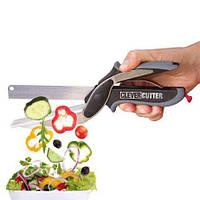 Кухонный нож ножницы Clever Cutter 2 в1 универсальный умный кухонные