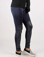 Модные женские лосины с имитацией бодфордов, фото 1