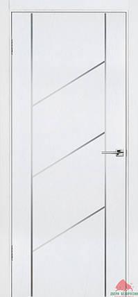 Межкомнатные двери Белоруссии Флэш 12 белый ясень ПГ, фото 2