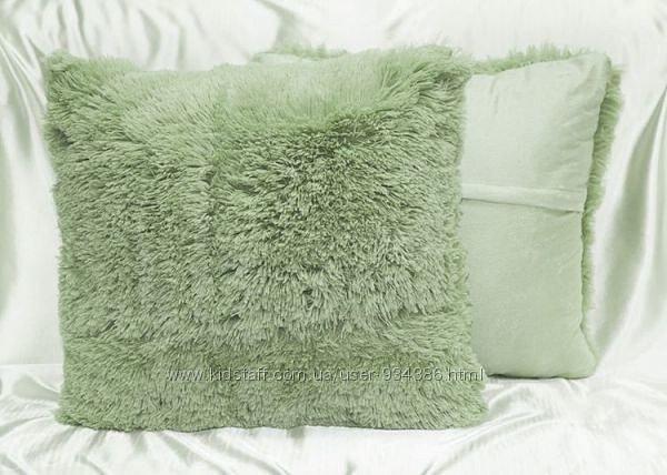Набор  стильных меховых наволочек с длинным ворсом 50*50 (2 шт), фото 1