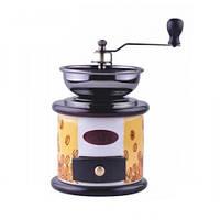 Кофемолка ручная из керамики с регулируемым помолом и деревянным ящиком KingHoff (Польша) KH4144