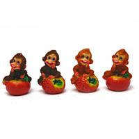 Обезьянка с фруктами (8 шт/уп)(7х5х4,5 см) , Распродажа