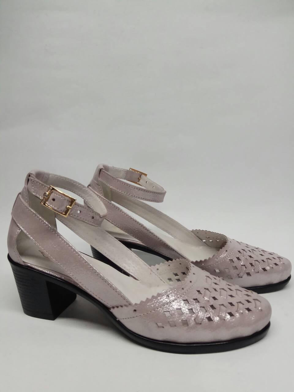 84f1b63ec28d Женские босоножки на устойчивом каблуке, турецкая кожа с золотым  напылением, цвет