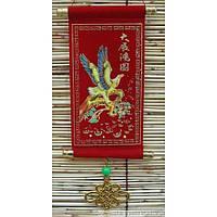 Панно красное (15х8х5 см) , Картины, Бабочки в рамке, Панно, Ключницы
