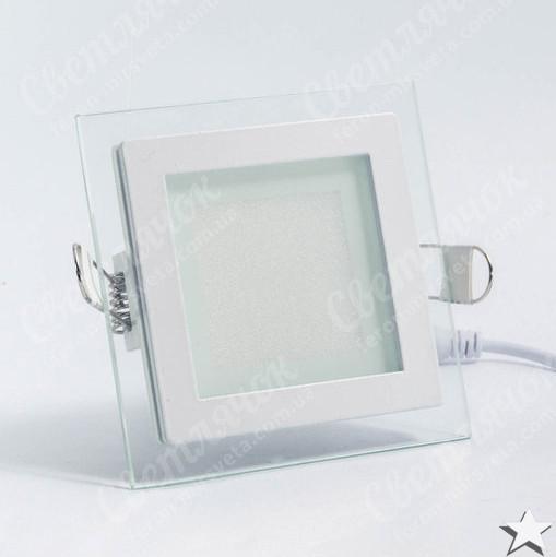 Светильник светодиодный встраиваемый со стеклом 6w Feron AL2111 OL 2700К