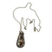 "Аромакулон бронзовый с камнями ""Лист"" (6х3х2 см) , Аромалампы"