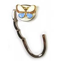"""Сумкодержатель для женской сумочки """"Бабочка-Замок"""" бело-фиолетовый (6,5х4,5х1,5 см) , Подарки для женщин"""
