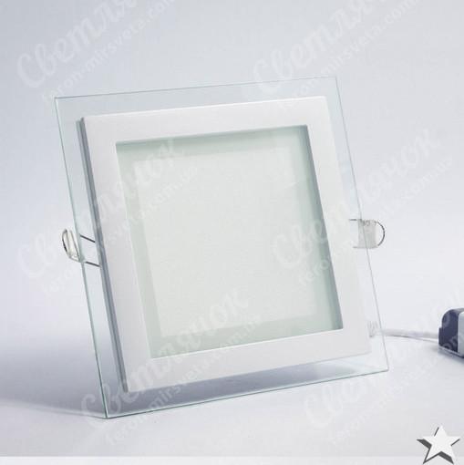 Светильник светодиодный встраиваемый со стеклом 12w Feron AL2111 OL 5000К