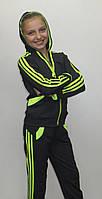 Спортивный костюм детский для девочки Лампас (серый)