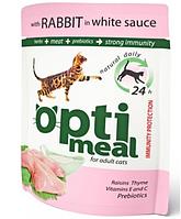 Консерва для кошек кролик в белом соусе Optimeal (Оптимил) Защита иммунитета  0,85 кг
