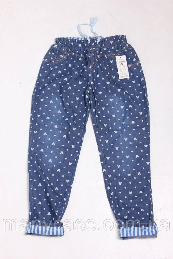 Женские штаны джинсовые с микки, фото 1