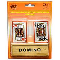 Домино с двумя колодами карт (23,5х18х4 см) , Игровая коллекция