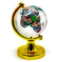 Глобус хрустальный цветной (4)(7х4,5х4,5 см) , Глобусы