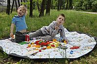 """Игровой коврик-сумка для хранения """"Влюбленные совы"""" 175*175 см"""