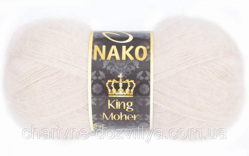 Пряжа для ручного и машинного вязания NAKO King Moher