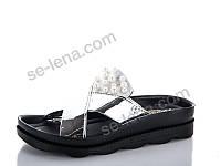 Шлепанцы Selena №АКБ жемчуг серебро (р.36-40).Опт.