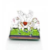 Верблюды с сердечком хрустальные (6х6х3 см) , Изделия из хрусталя