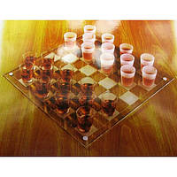 Шашки с рюмками (085L) (35х35х6,5 см) , Игровая коллекция