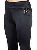 Батальные женские лосины с декоративными замочками (XL(50),Синий), фото 1