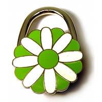 """Сумкодержатель для женской сумочки """"Цветок-Замок бело-зеленый"""" (6х4х1,5 см) , Подарки для женщин"""