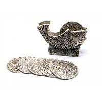 """Подстаканники """"Рыба """" (н-р 6 шт) металл (12,х8,5х4 см)(Непал) , Предметы для чайной церемонии и др."""