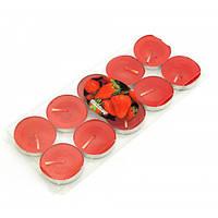 """Свечи """"Чайные""""  красные (набор 10 штук)(7,5х7х1 см) , Аромалампы"""