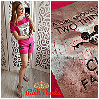 Женский костюм с шортами, в расцветках. ИТ-8-0518, фото 1