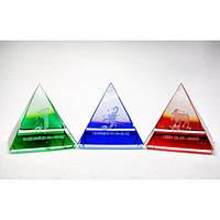 """Пирамиды хрустальные """"Гороскоп"""" (н-р 12 шт.)(5 см) , Изделия из хрусталя"""