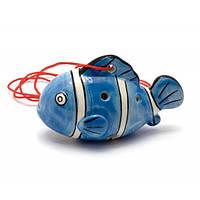 """Свистулька керамическая """"Рыба"""" синяя (8,5х6х4 см) , Музыкальная коллекция"""