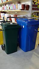 Контейнер для мусора на колесах 120л чёрный, фото 3