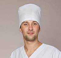 Мужская медицинская шапка колпак белого цвета
