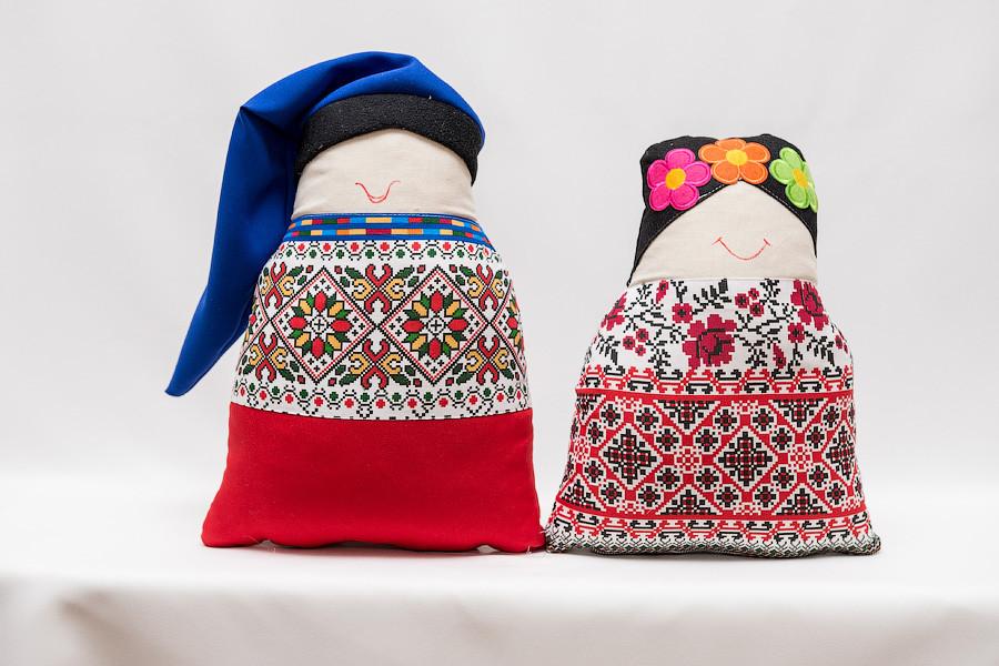 Диванная подушка  Vikamade набор стилизация  Казак и Казачка